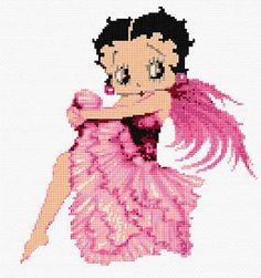 Betty boop perler hama cross stitch beads plastic canvas on pinteres