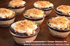 Duck Commander's Cream Cheese Pie Recipe http://recipesforourdailybread.com/2013/02/18/duck-dynasty-commanders-cream-cheese-pie/