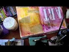 great mixed media video tutorial for beginners or those who don't know where to begin