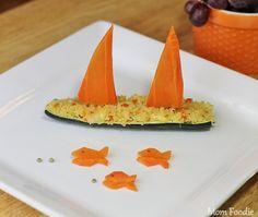 Zucchini Boats by @momfoodie #veggieworld