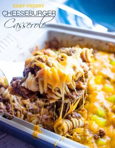 Cheeseburger Casserole - If your a cheeseburger lover this casserole is for you. It's like a big juicy cheeseburger right in a bowl. Use gluten free pasta.