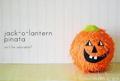 diy jack-o-lantern pinata