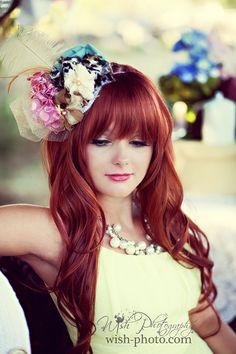 hair colors, hair clips, red hair, color red, redhead hairstyles, hair makeup, flower, bang, dream hair