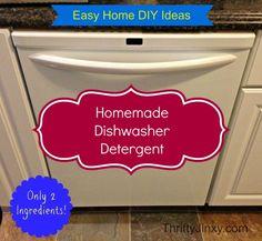 Super Easy Homemade Dishwasher Detergent Recipe - Thrifty Jinxy