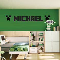 Minecraft Creeper Inspired WALL DECAL