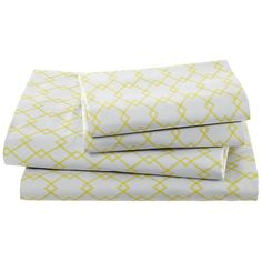 The Land of Nod | Boys Sheets: Grey Diamond Sheet Set in Sheet Sets