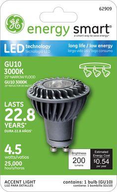 GE Energy Smart 25W Replacement (4.5W) MR16/GU10 LED Bulb (Warm, Energy Star) $29.95