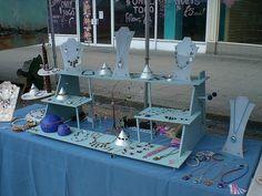 jewelri display, table displays, jewelry crafts, old dressers, jewelry displays, display idea, wood crafts, craft show displays, jewellery display