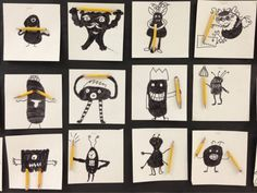 Pencil Monsters:  Apex Elementary Art There's always a use for those short pencils you've been saving.