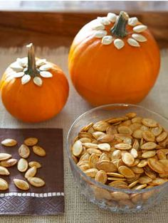 Serve spiced pumpkin seeds in style.