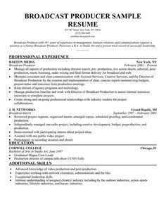 News Producer Sample Resume