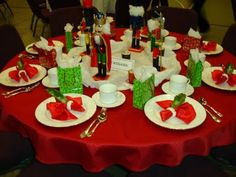 Nutcracker table setting for a  Russian Zakuski Party