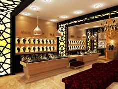 Luxury modern jewelry store design | Pop Up | Pinterest