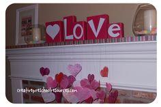 valentines day block craft, valentine day, valentin idea, craft idea, letter block, holiday idea, teenmom idea, holiday wooden, holiday decor