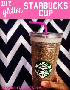 DIY glitter Starbucks Cup