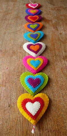 Modèle-felt hearts