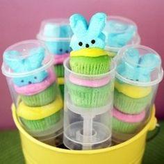 Easter Peeps Cupcake push up