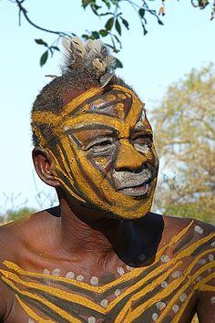 Nuba Man - Sudan Body Painting