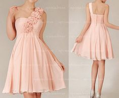 short bridesmaid dress blush bridesmaid dress by sposadress, $108.00