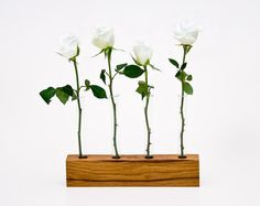 Wood Vase by Less & More contemporary vases