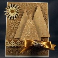 Gold Embossed Christmas Tree Card...