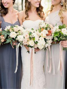 lush bridesmaids bouquets
