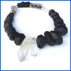 crystal meterorite necklace