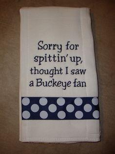 Penn State Burp Cloth... Haahahaha!