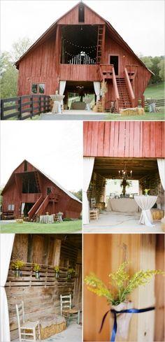 barn wedding .
