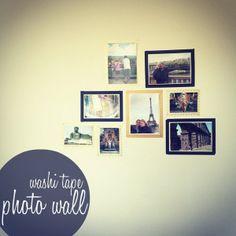 washi tape photo wall washi-tape