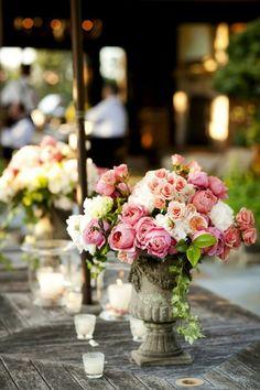 floral urns....