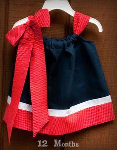 Patriotic RedWhiteNavy Pillowcase Dress