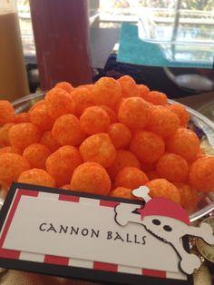 Make chocolate peanut butter balls the cannon balls