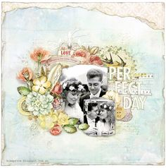 Perfect Day - Scrapbook.com - Made using the Prima Delight collection. Perfect for whimsical weddings.