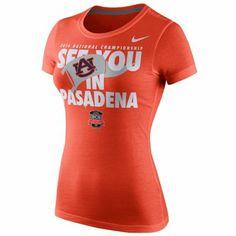Nike Auburn Tigers Ladies 2014 BCS National Championship Game Bound T-Shirt - Orange tiger ladi, auburn tigers, thing auburn, nike ngc, game, auburn pride