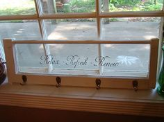 old window with vinyl | Old wooden window with vinyl lettering.