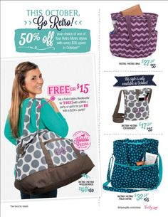 Love Thirty-One's Retro Metro Collection. Now's your chance to get them all for 50% off!