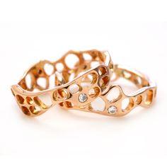 SEAFAN STACK WITH 2 DIAMONDS   Emily Amey Jewelry
