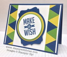 Make a Wish: Masculine Birthday Card
