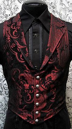 Victorian Aristocrat Vest by Shrine Clothing Goth Steampunk Mens Jackets