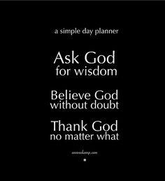 Thank God no matter what