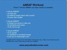 Peanut Butter Runner AMRAP Workout