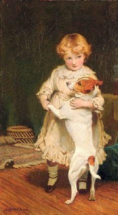 Charles Burton Barber (1845 – 1894), English painter.