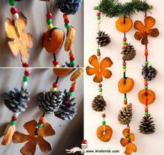Palju põnevaid apelsinidest ehteid ja kaunistusi