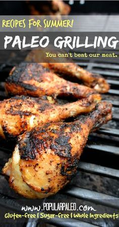 60 Paleo Grilling recipes perfect for summer on www.PopularPaleo.com!