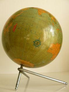 Vintage 1950s globe. artyfactz.