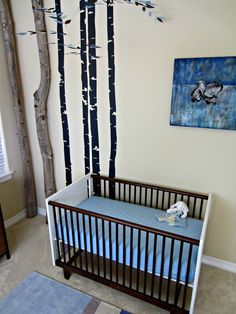 Project Nursery - Immersion in Nature Nursery Crib View