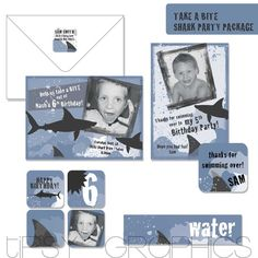 shark party invites