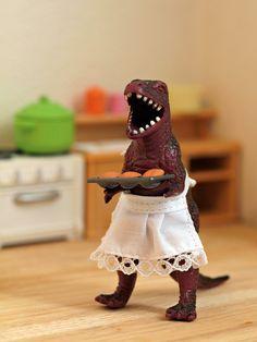 T-Rex Bakes by Guro #Humor #T_Rex