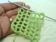 How to crochet an open-web grid